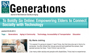 ASA's Generations Journal features Aging and Technology in San Francisco