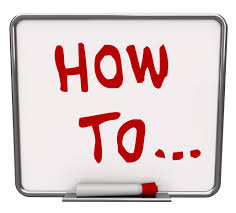 "Whiteboard with ""how to"" written on it"